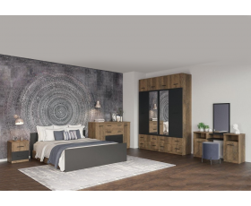Bedroom Lotos (dub fregat/ antratit) 1600 Exc